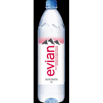 Evian Natural Mineral Water 12x1.25L