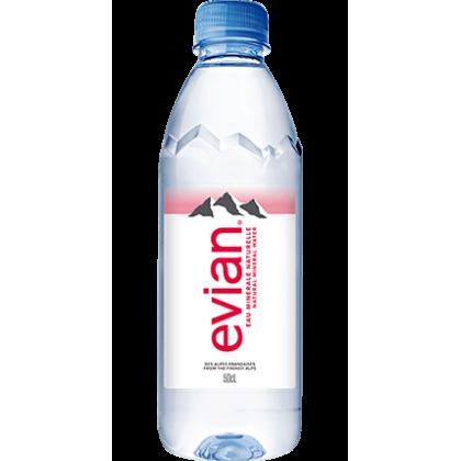 Evian Natural Mineral Water 24x500ml