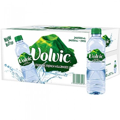 Volvic Natural Mineral Water 24x500ml