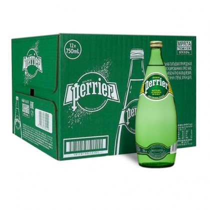 Perrier Sparkling Natural Mineral Water 12x750ml