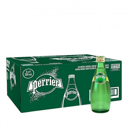 Perrier Sparkling Natural Mineral Water 24x330ml