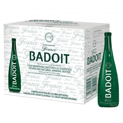 Badoit Sparkling Natural Mineral Water 12x750ml - Glass Bottle