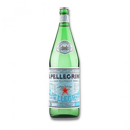 San Pellegrino Sparkling Natural Mineral Water Glass Bottle (Crown Cap) 12x1L