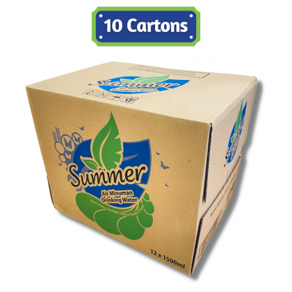 Summer Drinking Water 12x1.5L - 10 Cartons Package